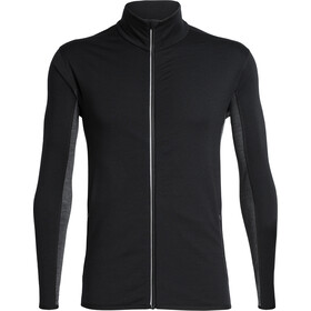 Icebreaker Delta LS Zip Top Men black/jet heather